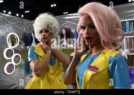 Los Angeles, California, USA. 15th Mar, 2019. Attendees at RuPaul's DragCon LA 2019 in Los Angeles, California. The annual three-day RuPaul's DragCon is the world's largest drag culture convention and takes place in New York and Los Angeles. Credit: Ronen Tivony/SOPA Images/ZUMA Wire/Alamy Live News - Stock Photo