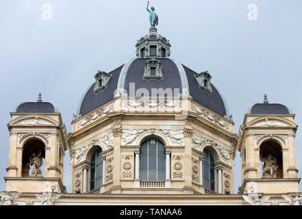 Museum of Natural History dome Vienna Austria - Stock Photo