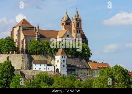 Panoramic view of St. Stephan Münster (cathedral) in Breisach am Rhein, Baden-Württemberg, Germany. - Stock Photo