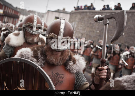 Lerwick, Shetland Isles, Scotland, UK. 31st January 2017. Up Helly Aa viking fire festival which is unique to Shetland and held on the last Tuesday in - Stock Photo