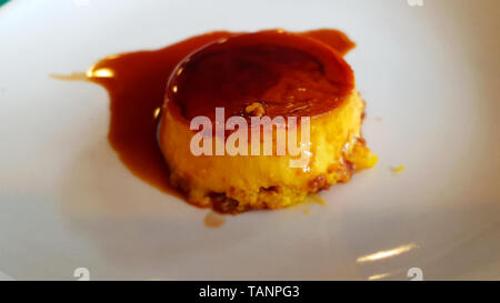 Creme caramel, flan, or caramel dessert is a custard dessert with a layer of clear caramel sauce