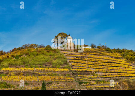 The Jacobstein is a vineyard gazebo in Radebeul. It was built in 1742, Radebeul, Saxony, Germany, Europe - Stock Photo