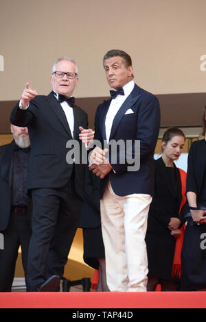 May 25, 2019 - Cannes, France - CANNES, FRANCE - MAY 25: Sylvester Stallone attends the closing ceremony screening of ''The Specials'' during the 72nd annual Cannes Film Festival on May 25, 2019 in Cannes, France. (Credit Image: © Frederick InjimbertZUMA Wire) - Stock Photo