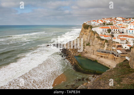 Azenhas do Mar- a seaside town in the municipality of Sintra, Portugal - Stock Photo