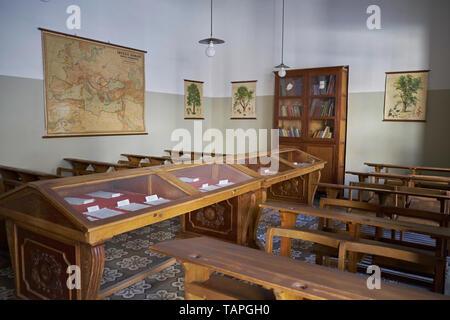 Classroom of Antonio Machado, Baeza, Jaén province, Andalusia, Spain. - Stock Photo