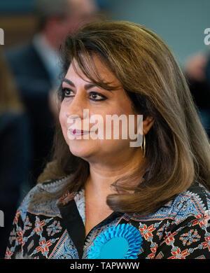 Edinburgh, Scotland, UK. 27th May, 2019. The six new Scottish MEPs are declared at the City Chambers in Edinburgh, . Pictured Baroness Nosheena Mobarik Credit: Iain Masterton/Alamy Live News - Stock Photo