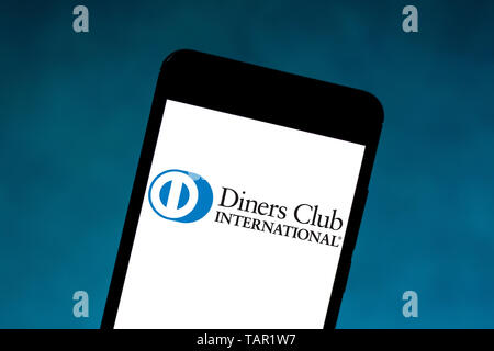 Brazil. 27th May, 2019. In this photo illustration the Diners Club International logo is seen displayed on a smartphone. Credit: Rafael Henrique/SOPA Images/ZUMA Wire/Alamy Live News - Stock Photo