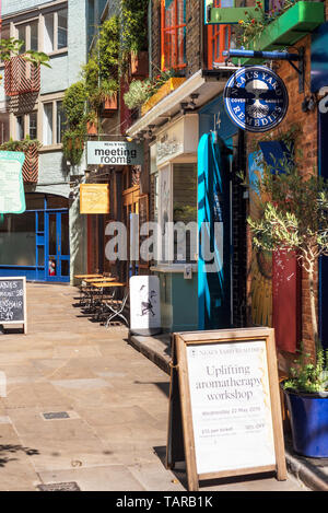 London, United Kingdom - May 14, 2019 - Neal´s Yard, is a small alley in Covent Garden area in London . - Stock Photo
