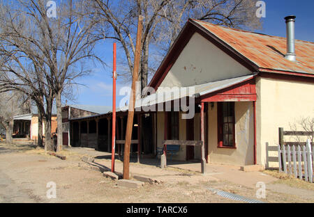 Numerous structures in Lincoln, New Mexico, are associated with Billy the Kid and the infamous Lincoln County War of the Old West - Stock Photo