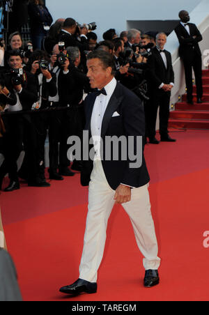 Sylvester Stallone attends the Closing Ceremony Red Carpet of the 72nd Cannes Film Festival 2019. - Stock Photo
