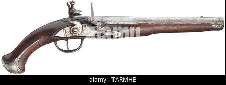 Small arms, pistols, cavalry flintlock pistol M 1770, calibre 18,5 mm, Austria, Editorial-Use-Only - Stock Photo