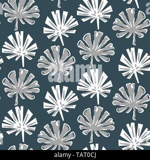 Tropical monstera leaves seamless pattern vector in green colors. - Stock Photo