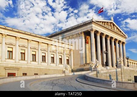 Austrian Parliament in Vienna - Austria - Stock Photo