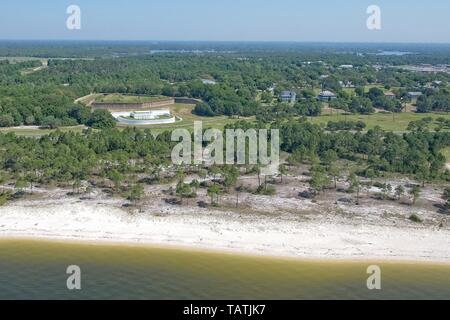 An Aerial View of Naval Station Pensacola, Florida USA - Stock Photo