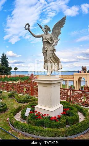 Statue of an angel at Schwerin Castle in Schwerin. Mecklenburg-Vorpommern, Germany - Stock Photo