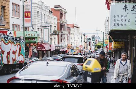 San Francisco Chinatown district - Stock Photo