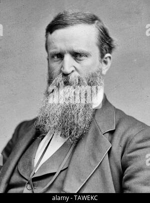 James Baird Weaver ( June 12, 1833 – February 6, 1912) was a United States politician and member of the United States House of Representatives, representing Iowa as a member of the Greenback Party. He ran for President two times on third party tickets in the late 19th century. An opponent of the gold standard and national banks, he is most famous as the presidential nominee of the Populist Party in the 1892 election. Circa 1875 - Stock Photo