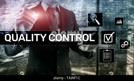 Quality control and assurance. Standardisation. Guarantee. Standards. Business and technology concept. - Stock Photo