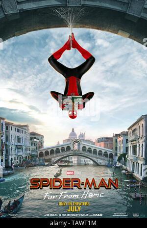 SPIDER-MAN: FAR FROM HOME 2019 de Jon Watts teaser americain Tom Holland. super heros; super hero; spiderman; spider-man; spider man; Venise; Venice;  - Stock Photo