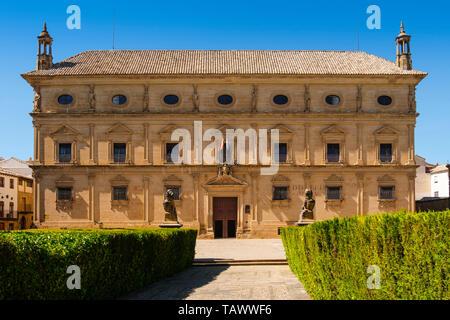 Town Hall, Palacio de las Cadenas by architect Andrés de Vandelvira in plaza Vazquez de Molina. Ubeda, Jaén province. southern Andalusia. Spain Europe - Stock Photo