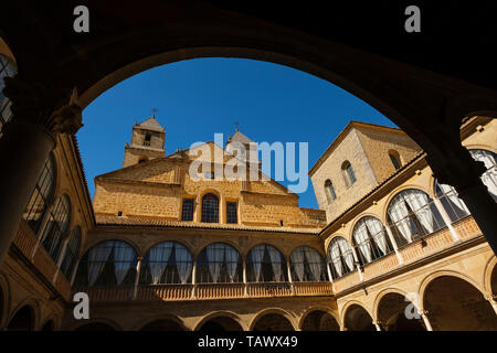 Courtyard of Hospital de Santiago. Ubeda, Jaén province. southern Andalusia. Spain Europe - Stock Photo