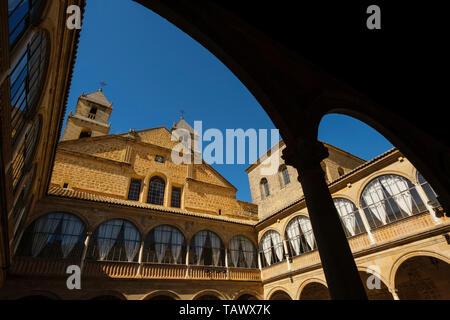 Courtyard of Hospital de Santiago. Ubeda, Jaén province. southern Andalusia. Spain Europe - Stock Photo