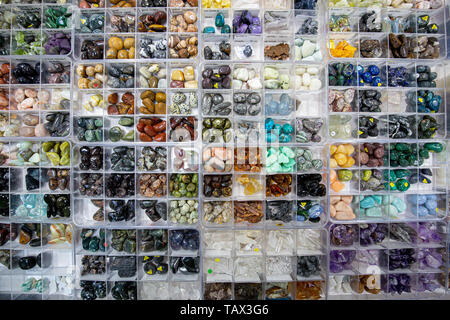 Set of various natural mineral stones - Stock Photo