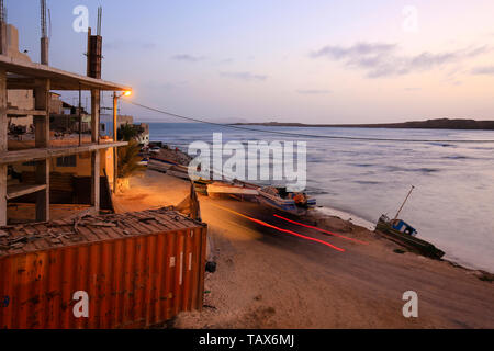 20.02.2019, Sal Rei, Boa Vista, Cape Verde Islands - City view at the old fishing harbour. 00X190220D037CAROEX.JPG [MODEL RELEASE: NOT APPLICABLE, PRO - Stock Photo