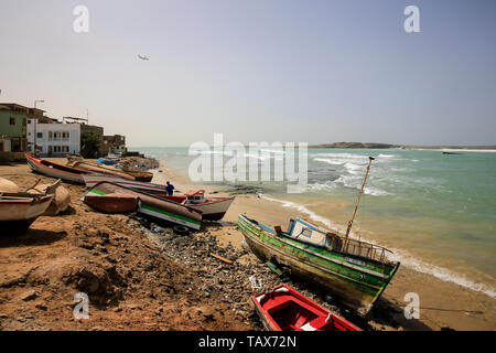 20.02.2019, Sal Rei, Boa Vista, Cape Verde Islands - City view at the old fishing harbour. 00X190224D105CAROEX.JPG [MODEL RELEASE: NOT APPLICABLE, PRO - Stock Photo