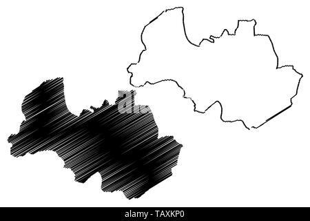 Al Bayda Governorate (Governorates of Yemen, Republic of Yemen) map vector illustration, scribble sketch Al Bayda map - Stock Photo
