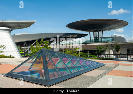 24.05.2019, Singapore, Republic of Singapore, Asia - Exterior view of the Expo station along the MRT network at Changi Business Park. - Stock Photo