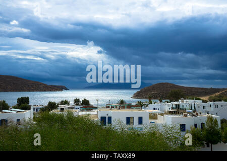 Serifos, Cyclades Islands, Greece, 09/30/2018: after the storm on the coast of the island of Serifos - Stock Photo