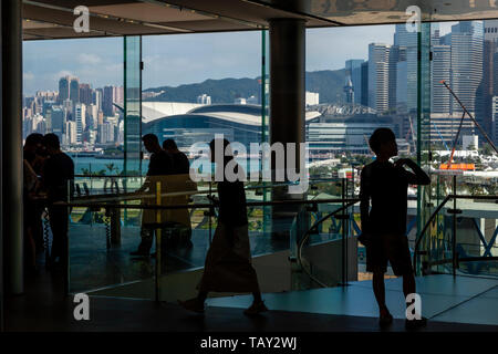 Local People In The Apple Store, IFC Mall, Hong Kong, China - Stock Photo