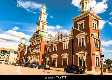Baltimore, Maryland, USA - July 8, 2017: The restored Camden Station, originally built in 1856, is one of the longest continuously-operated train term - Stock Photo
