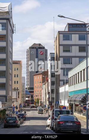 Otavalankatu Street in Tampere Finland - Stock Photo