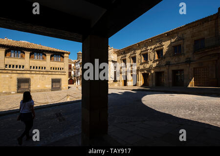 Antiguas Carnicerias in Plaza del Populo. Baeza, Jaén province. southern Andalusia. Spain Europe - Stock Photo