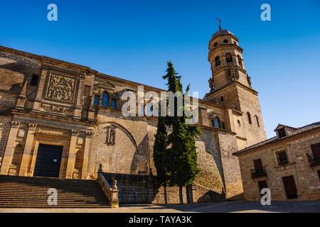 Catedral de la Natividad de Nuestra Señora. Renaissance style cathedral in Plaza Santa Maria. Baeza, Jaén province. southern Andalusia. Spain Europe - Stock Photo