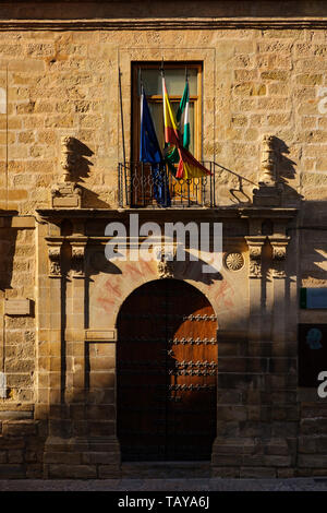 Building of the old university. Baeza, Jaén province. southern Andalusia. Spain Europe - Stock Photo