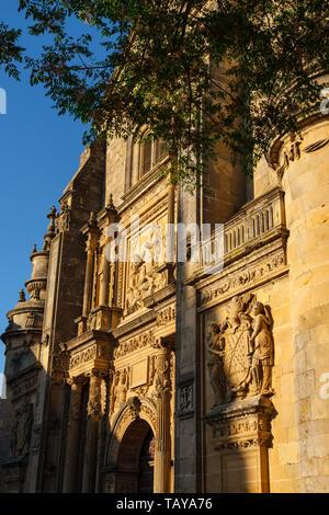 Salvador Church in Plaza de Vázquez Molina. Ubeda, Jaén province. southern Andalusia. Spain Europe - Stock Photo