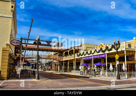 Orlando, Florida . December 24, 2018. For more than 100 years, Church Street has been the heart of downtown Orlando. - Stock Photo