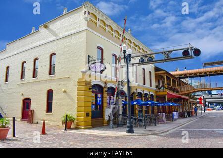 Orlando, Florida . December 24, 2018. Old Humburger Bar at Church Street Station in Orlando Downtown area . - Stock Photo
