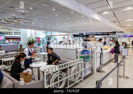 Cafe/Restaurants At Hong Kong International Airport, Hong Kong, China - Stock Photo