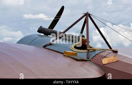 1917 Bristol M1C Scout - Replica of a First World War fighter aircraft on static display at Shuttleworth evening airshow on the 18th May 2019 - Stock Photo