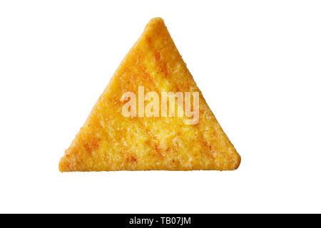 nacho chips isolated on white background - Stock Photo