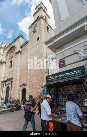 Catedral de San Ildefonso. Merida, Yucatan. Mexico - Stock Photo
