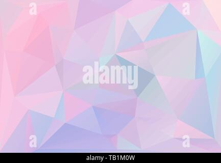 Abstract triangular background, with pastel colors inspired from the 80s 90s aesthetics. Holographic low poly design. - Stock Photo