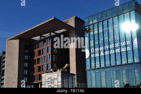 Music school Conservatory Conservatorium of Amsterdam University of the Arts, Holland - Stock Photo