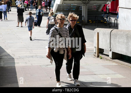 London, UK. 30th May, 2019. Tourists on Southbank a sunny and warm day in the capital. Credit: Dinendra Haria/Alamy Live News - Stock Photo
