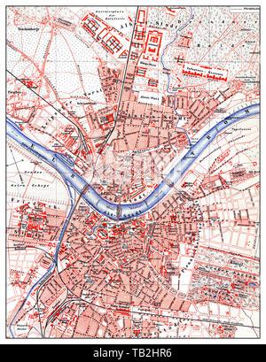 A map of Germany. Karte von DEUTSCHLAND in VI Blatt. In Wien [Vienna ...