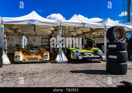 Classic endurance racing group C in montjuic spirit Barcelona circuit car show. - Stock Photo